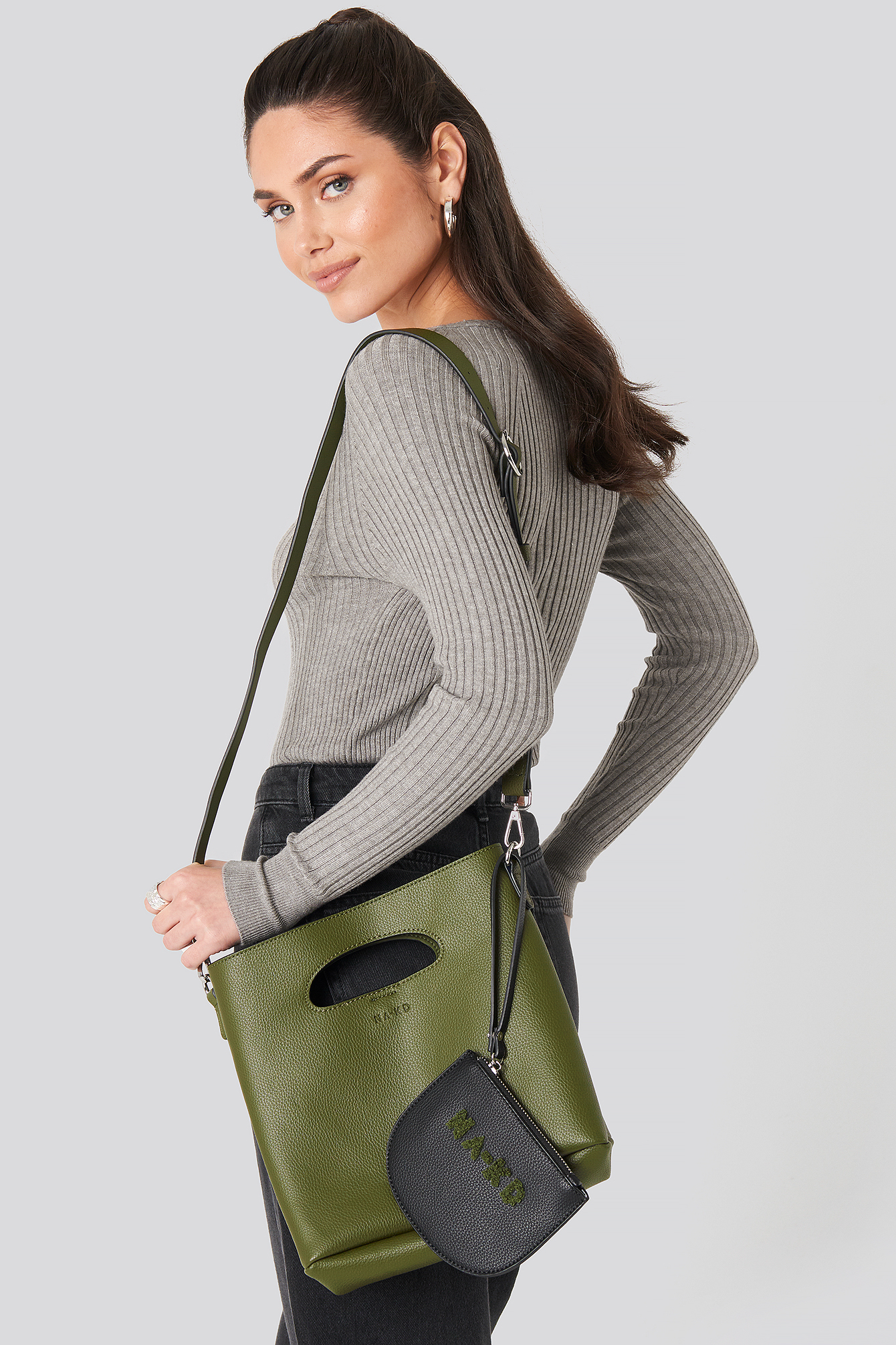 Dark Olive Mini Tote Bag