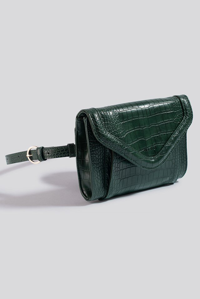 Mini Two Way Bag Green Croco