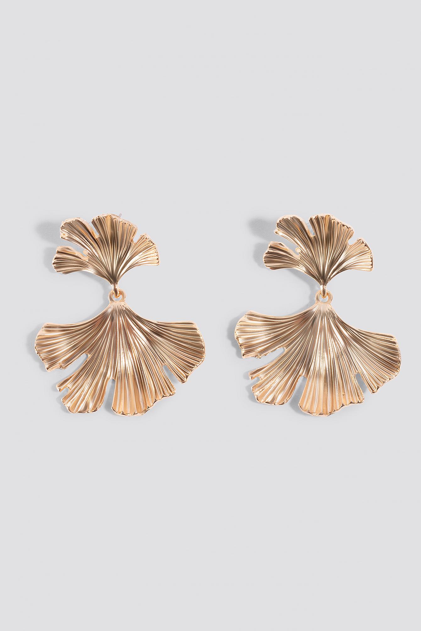 Mirrored Leaf Earrings NA-KD.COM