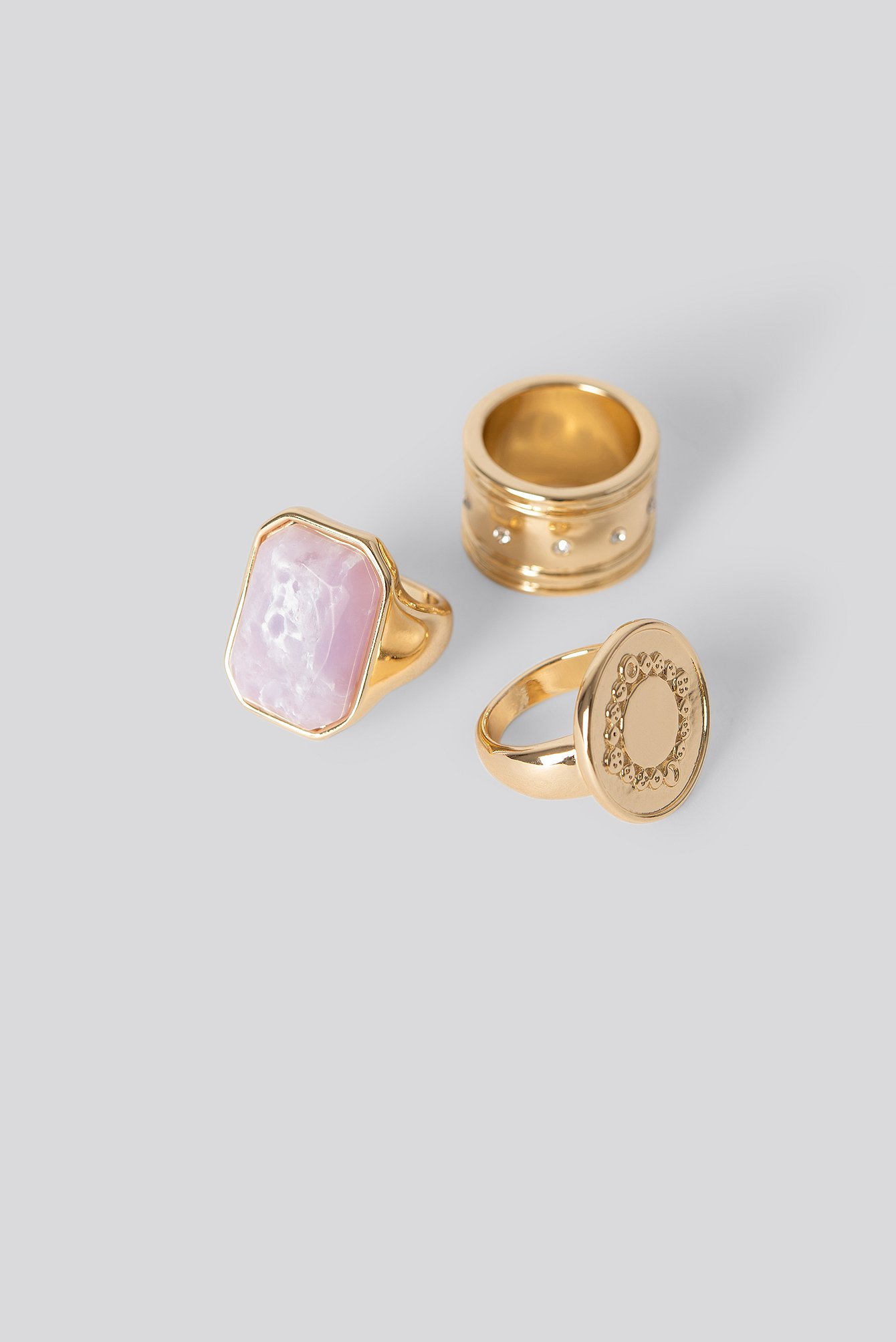 Gold Mixed Stone Rings