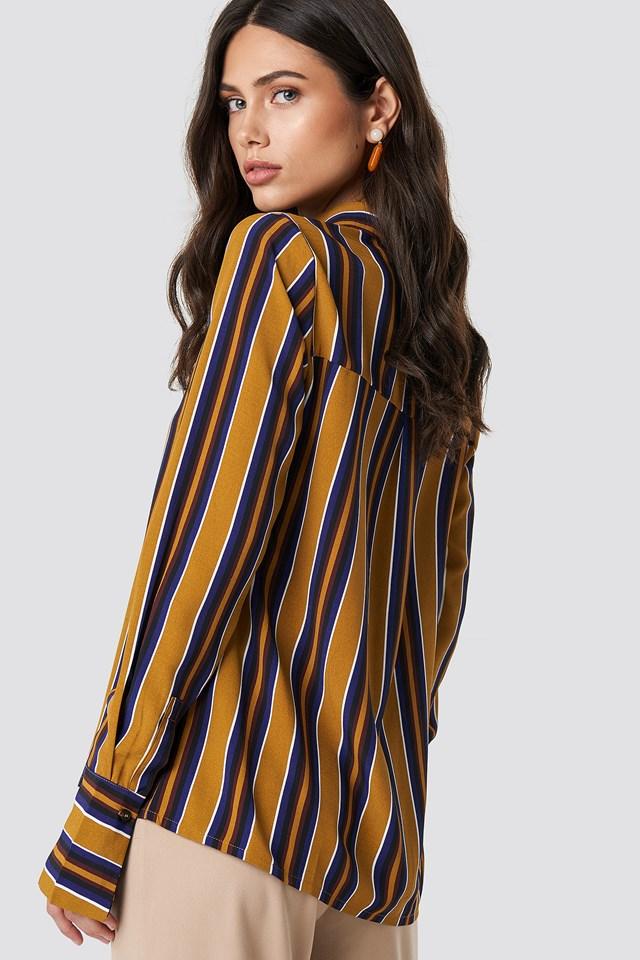 Mixed Stripes Shirt Mustard Stripe