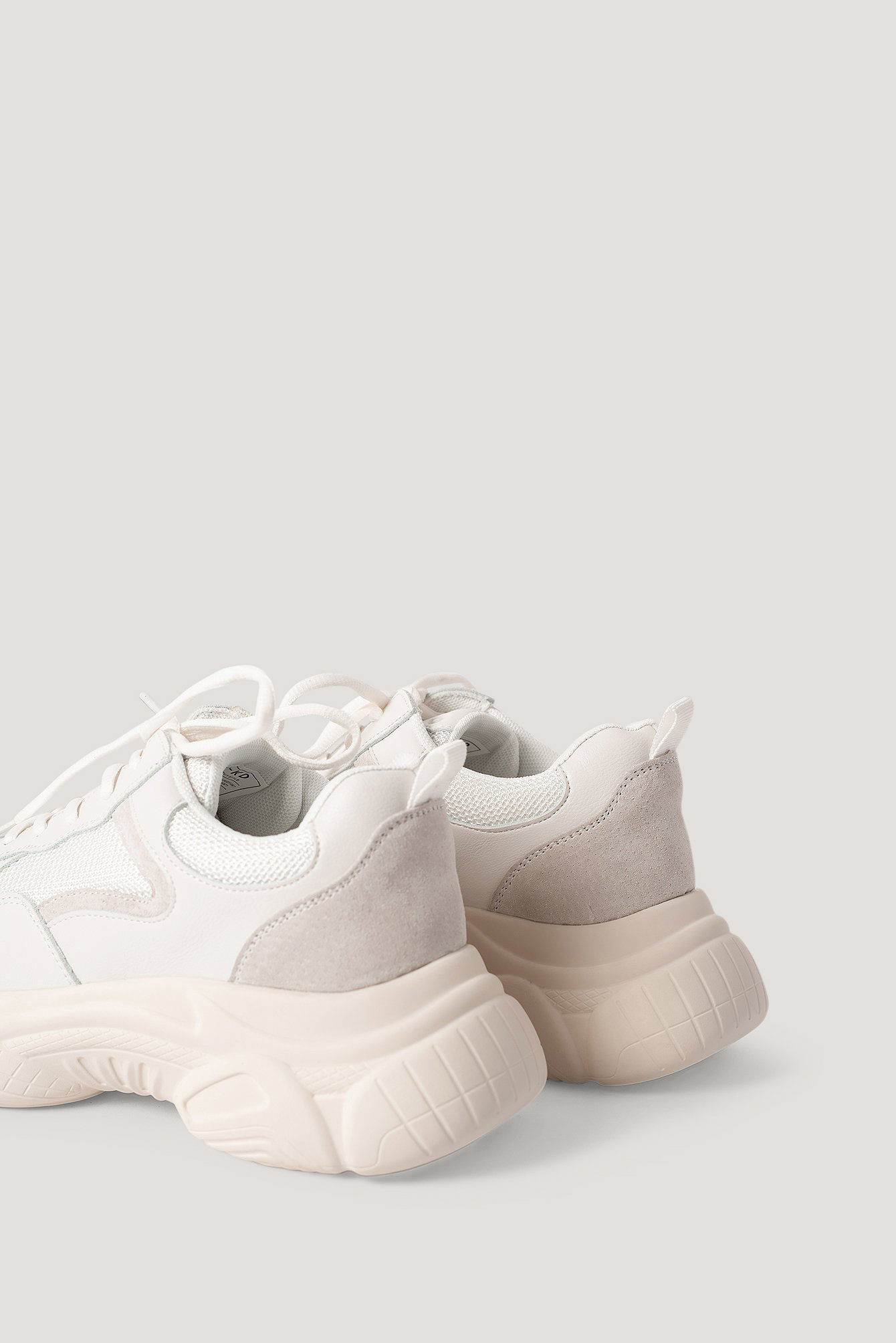 White Mixed Upper Trainers
