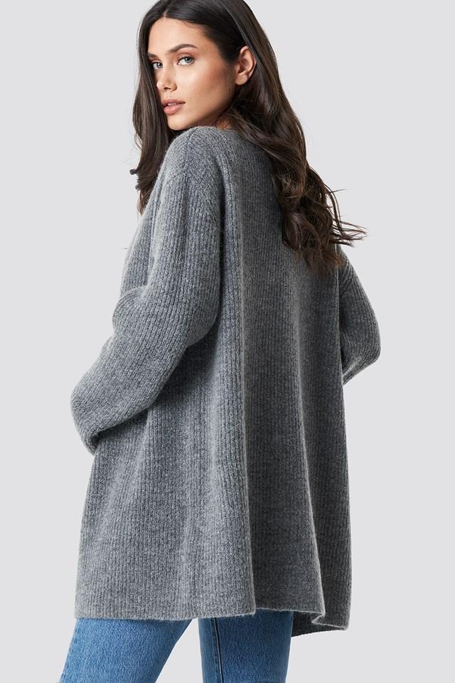 Mohair Blend Cardigan Grey