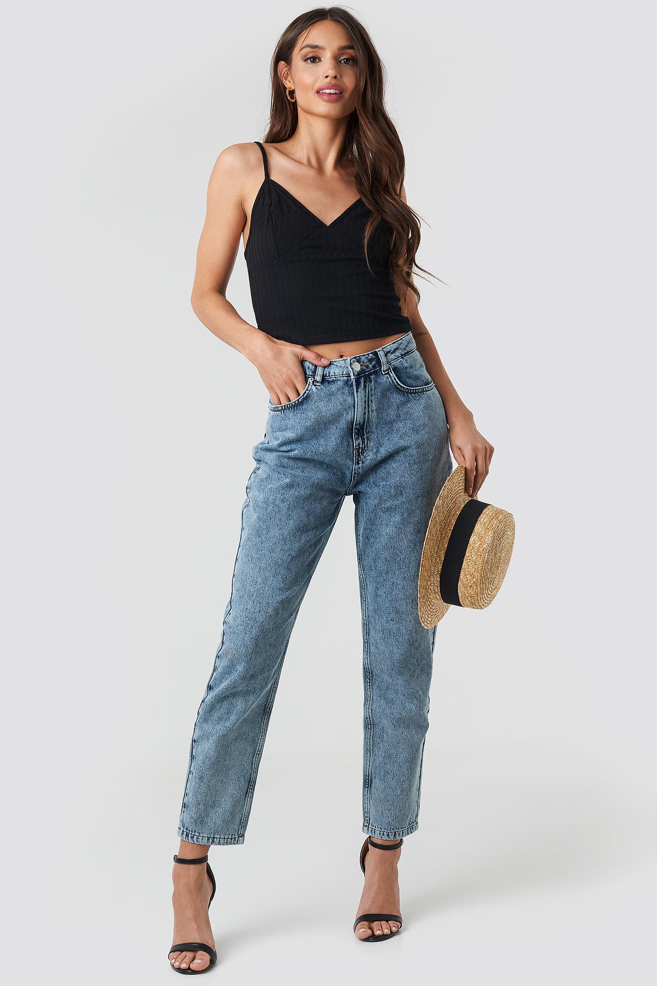 na-kd trend -  Mom Jeans - Blue