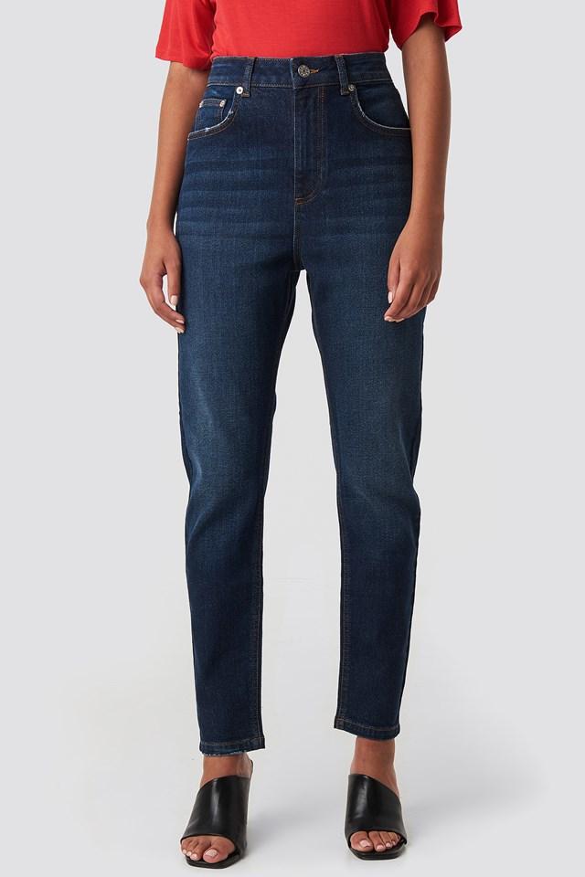 Mom Jeans Dark Blue
