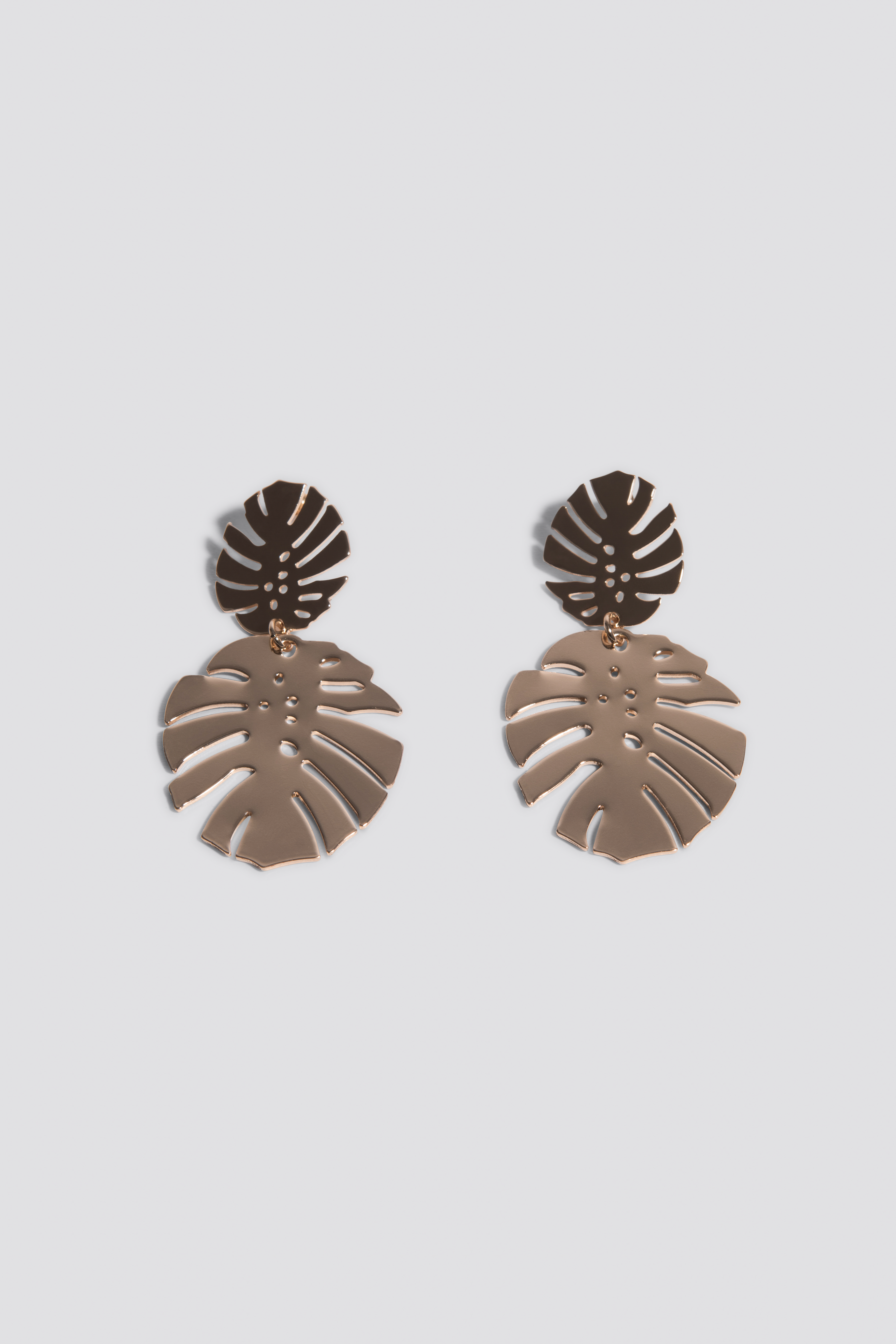 Gold Monstera Leaves Earrings