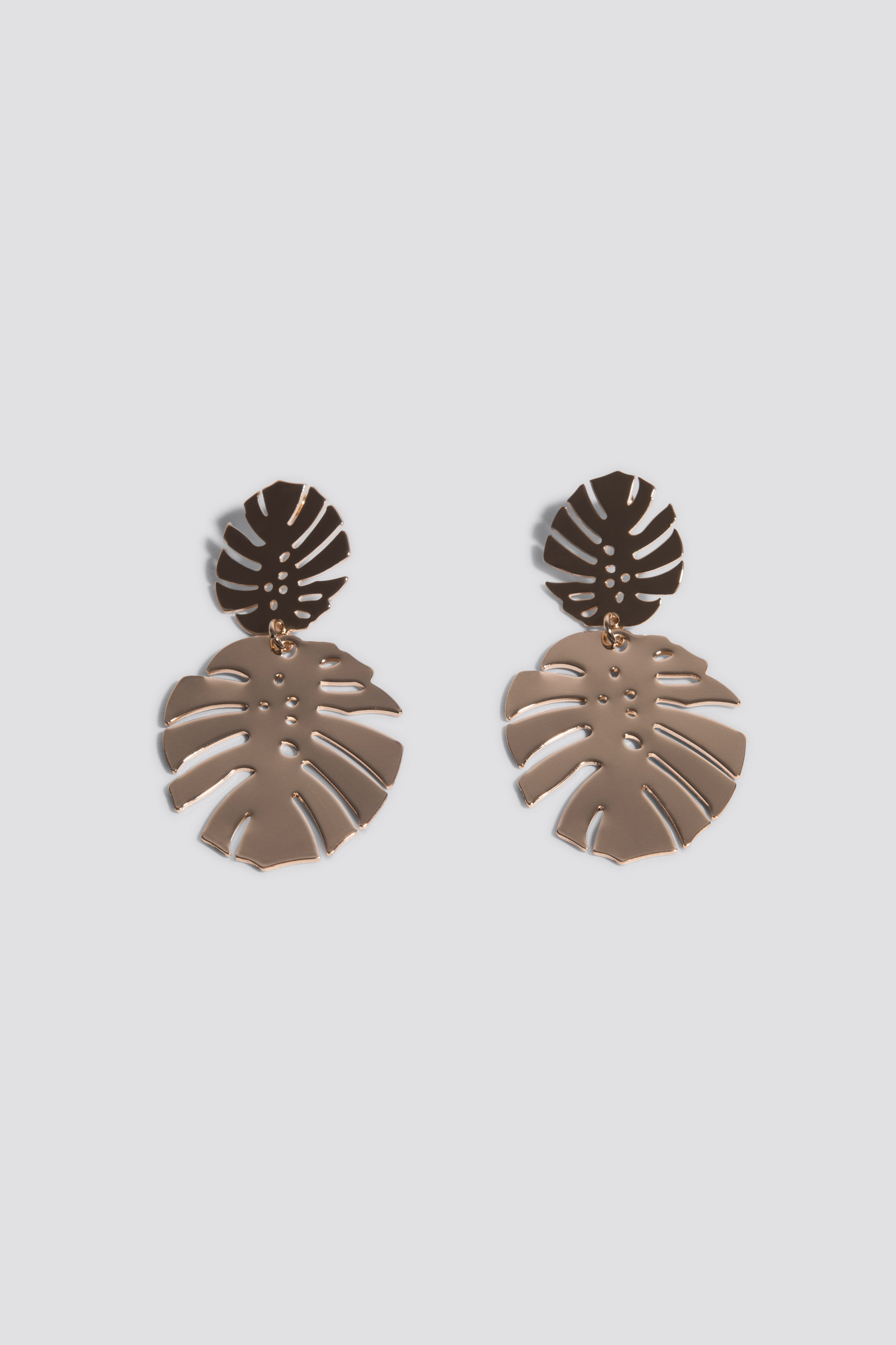 Monstera Leaves Earrings NA-KD.COM