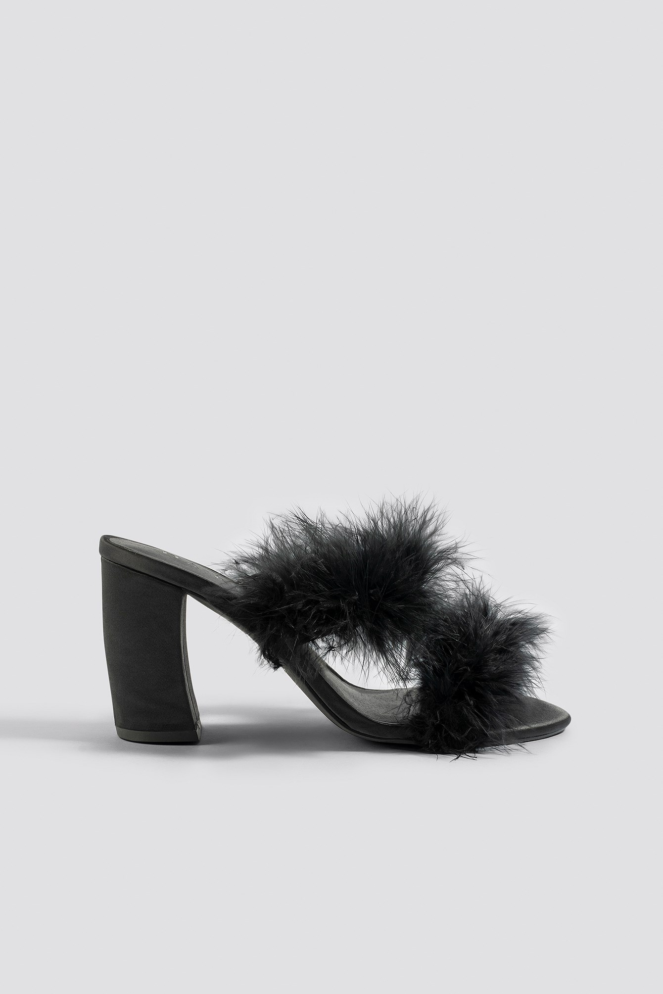 Feather Mule Heel Sandals NA-KD.COM