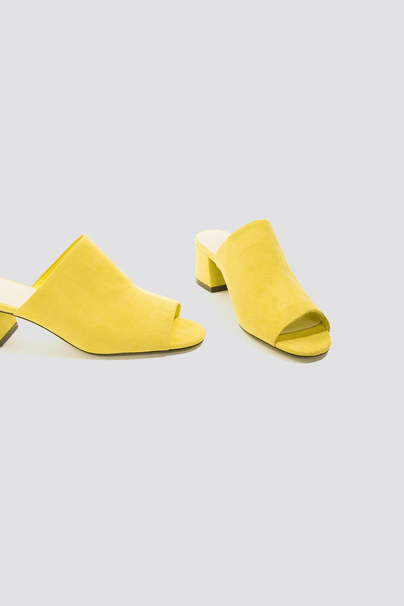 Yellow Mule Low Heeled Sandal