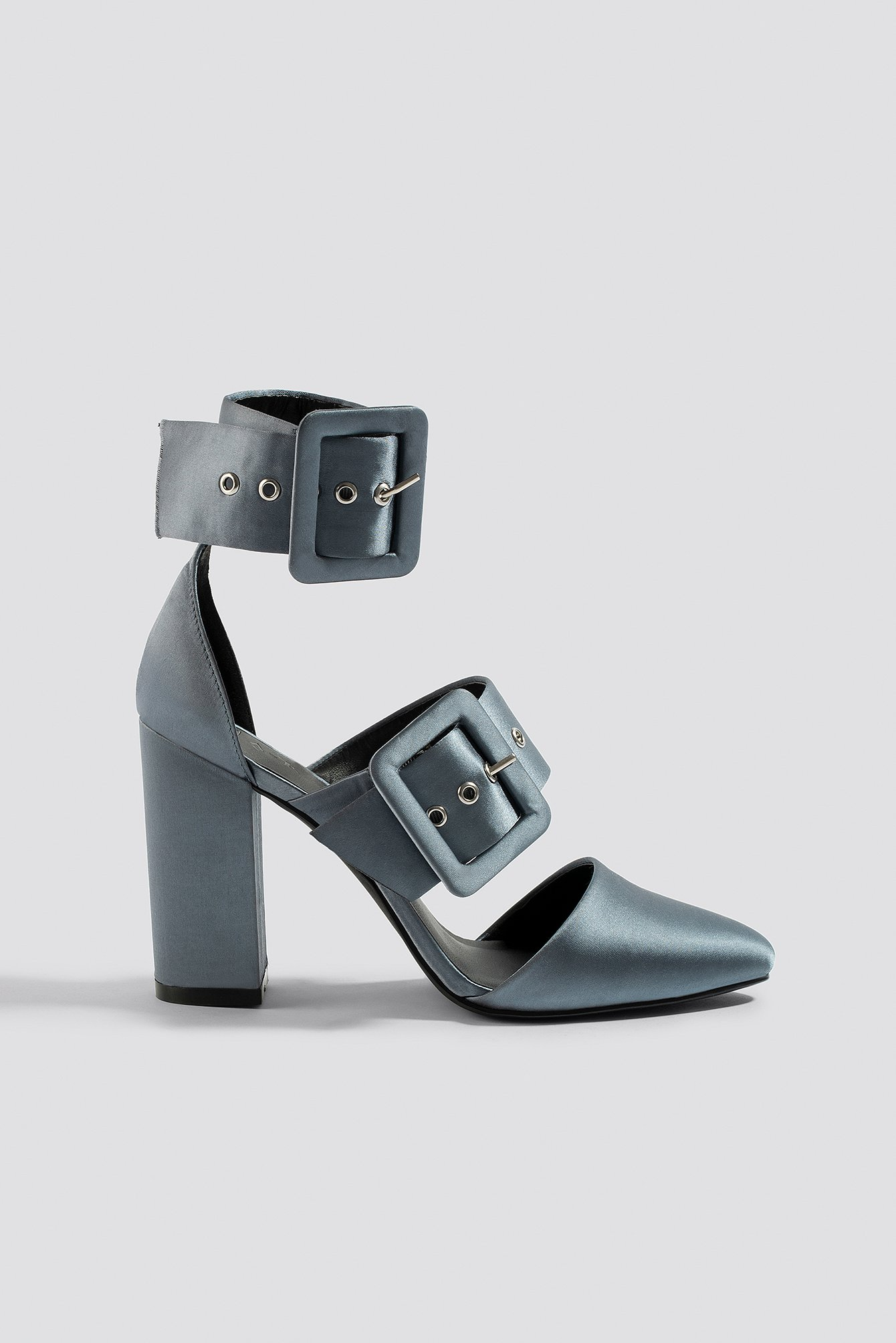 Multi Buckle Block Heels NA-KD.COM