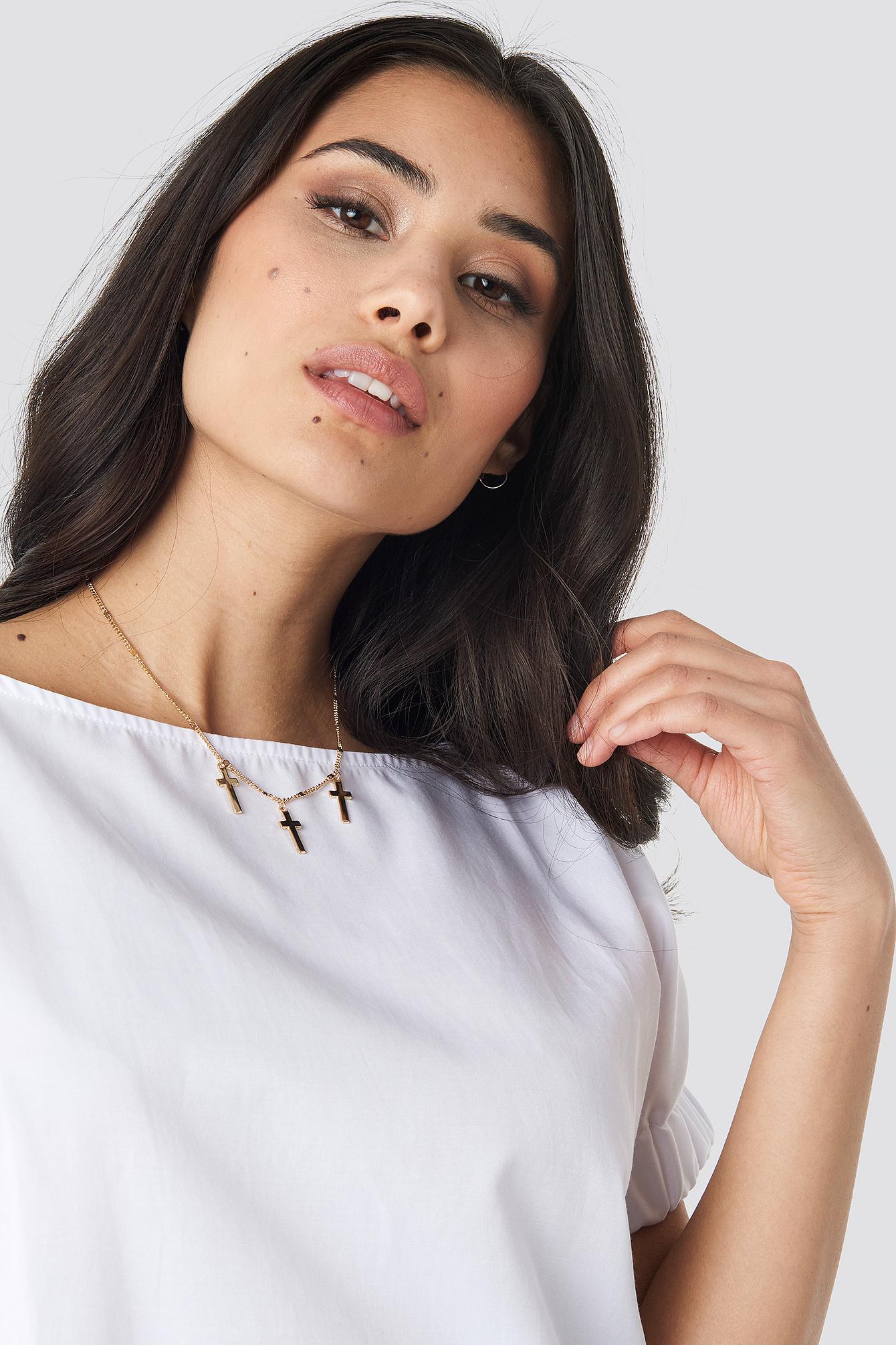 Multi Mini Cross Necklace NA-KD.COM