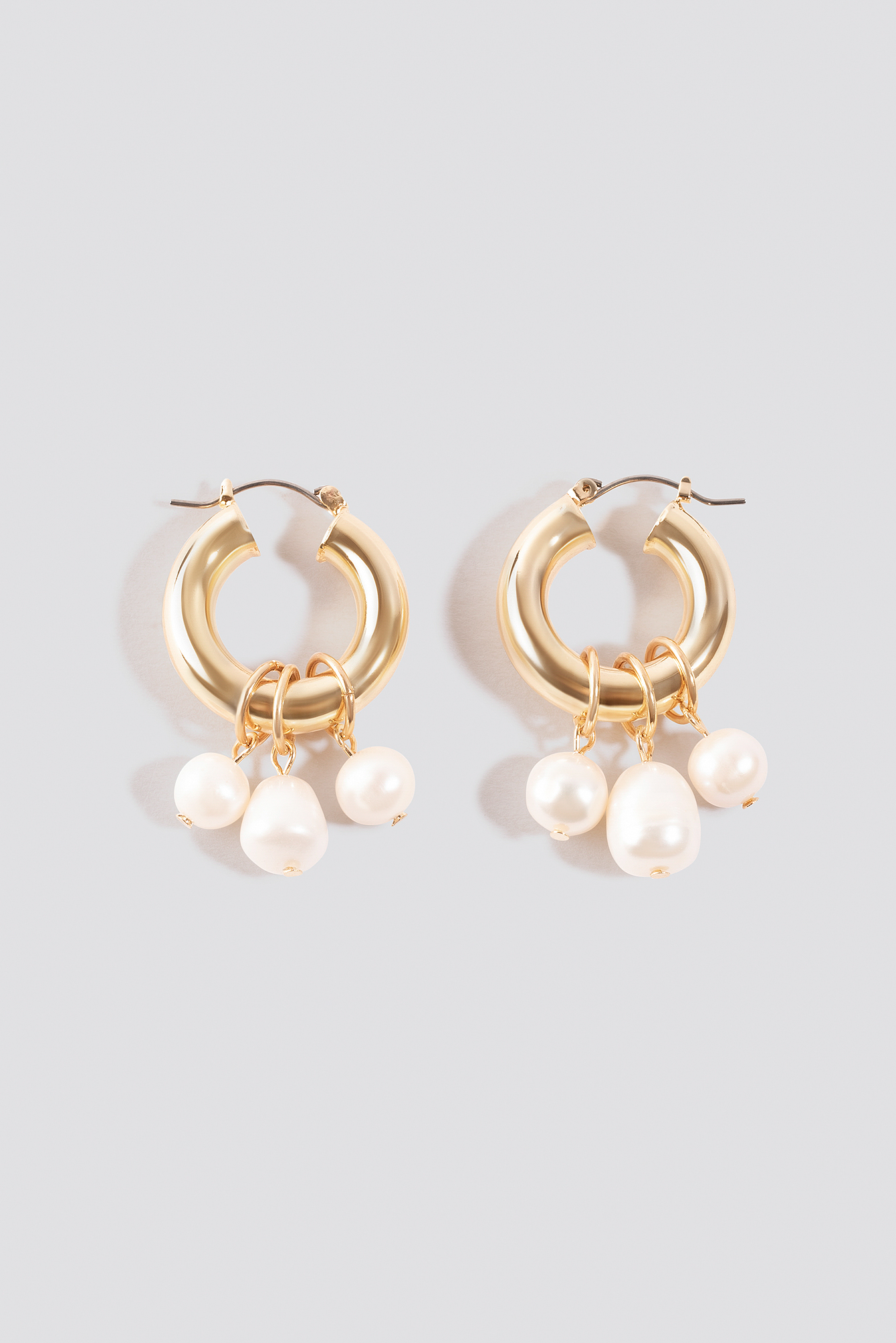 Multi Pearl Hoop Earrings NA-KD.COM