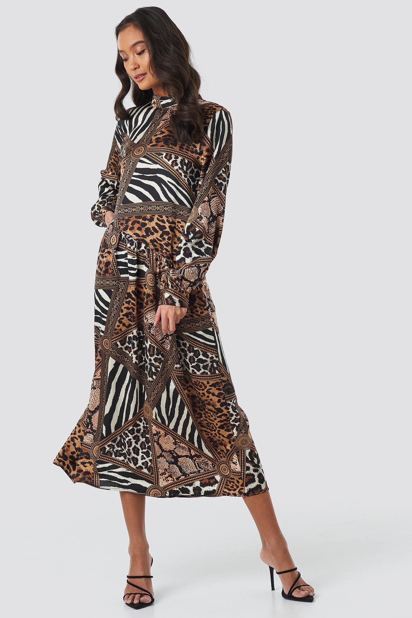 Multi Printed Ankle Dress NA-KD.COM