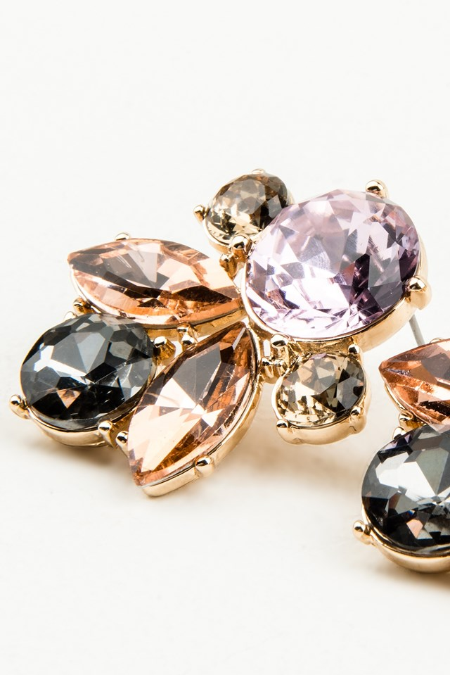 Multicolor Big Diamond Earrings NA-KD.COM