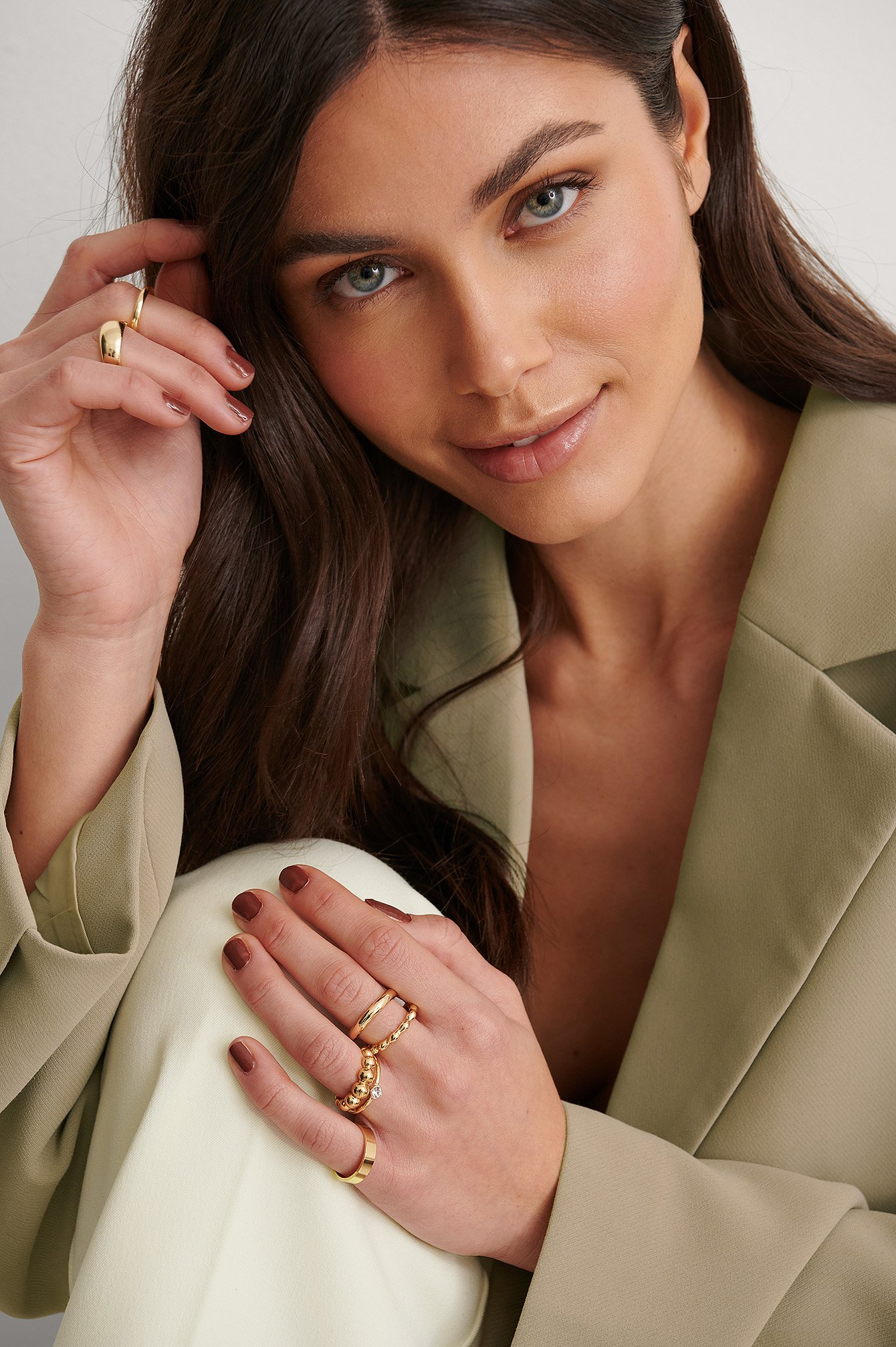 na-kd accessories -  Recycelt Ringe-Set - Gold