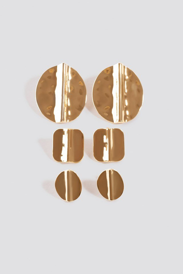 Multipack Textured Earstuds NA-KD Accessories