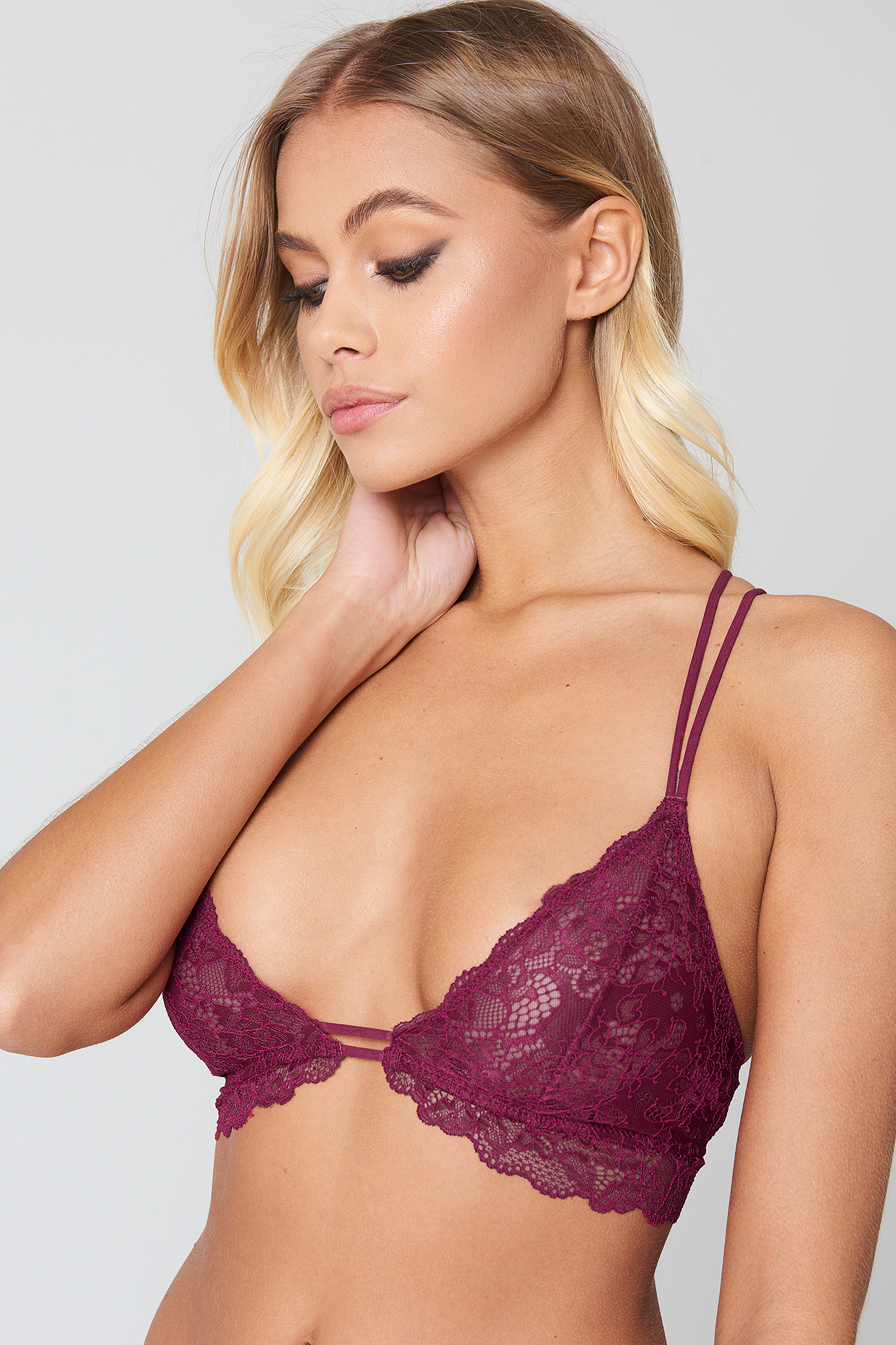 Multistrap Lace Bra