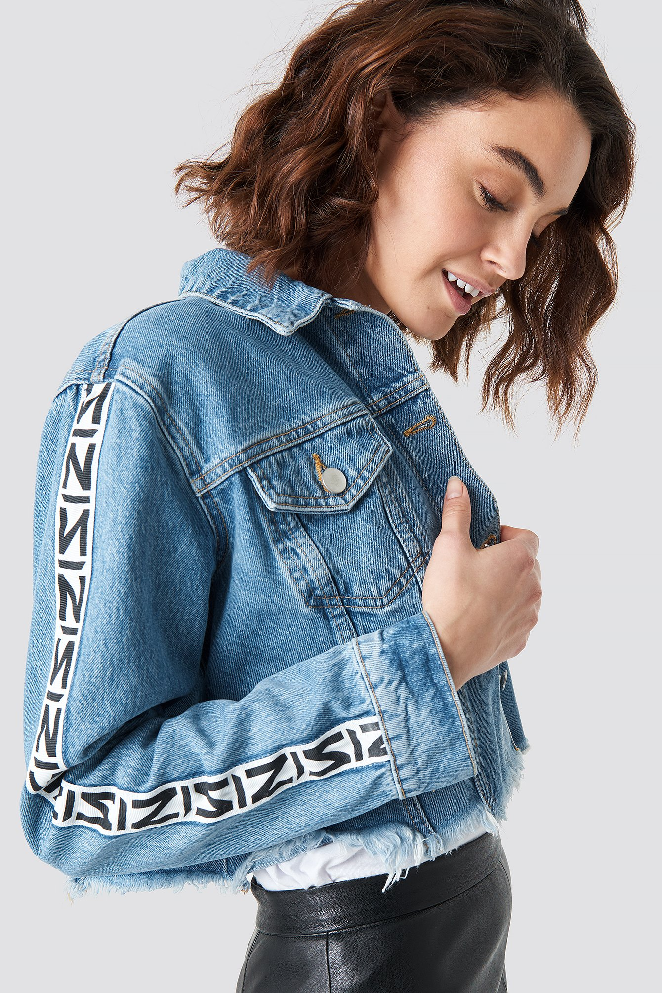 N Branded Denim Jacket NA-KD.COM