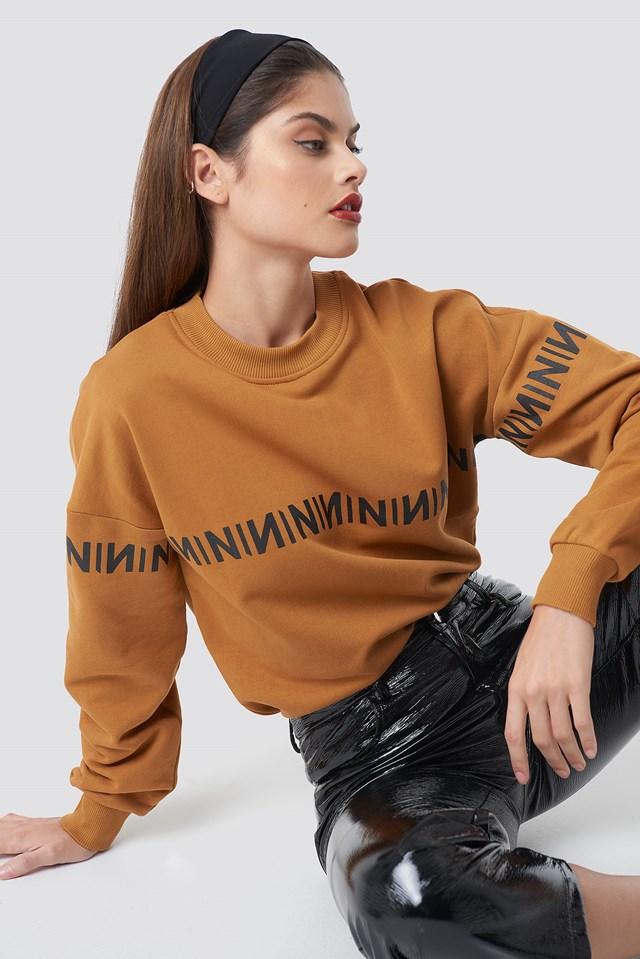 N Branded Sweatshirt Burned Brown