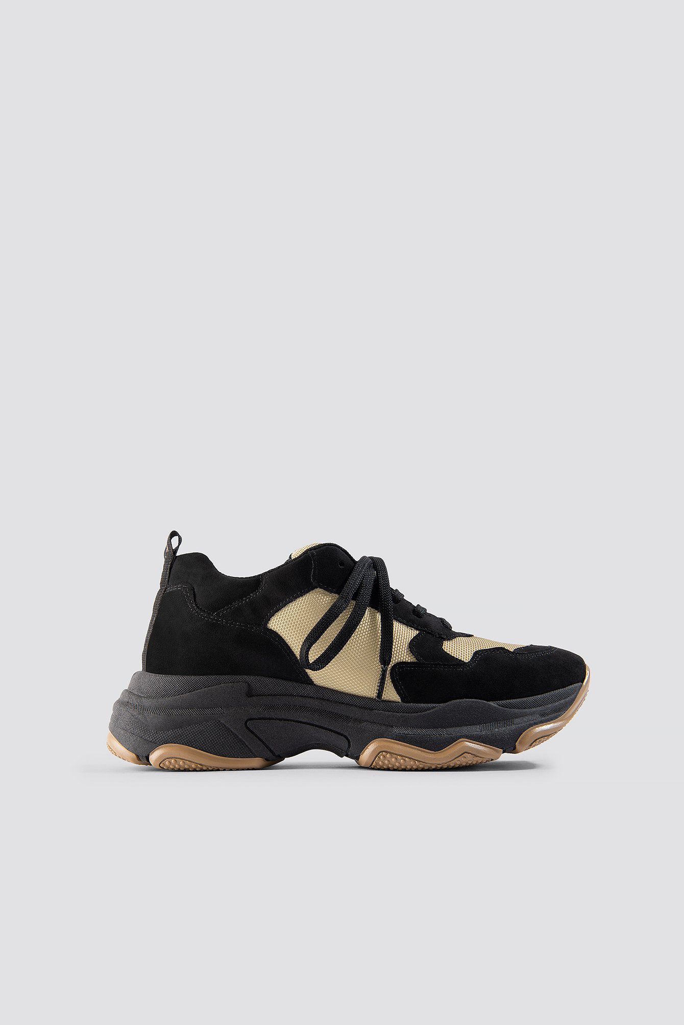 na-kd shoes -  NA-KD Chunky Trainers - Black,Beige