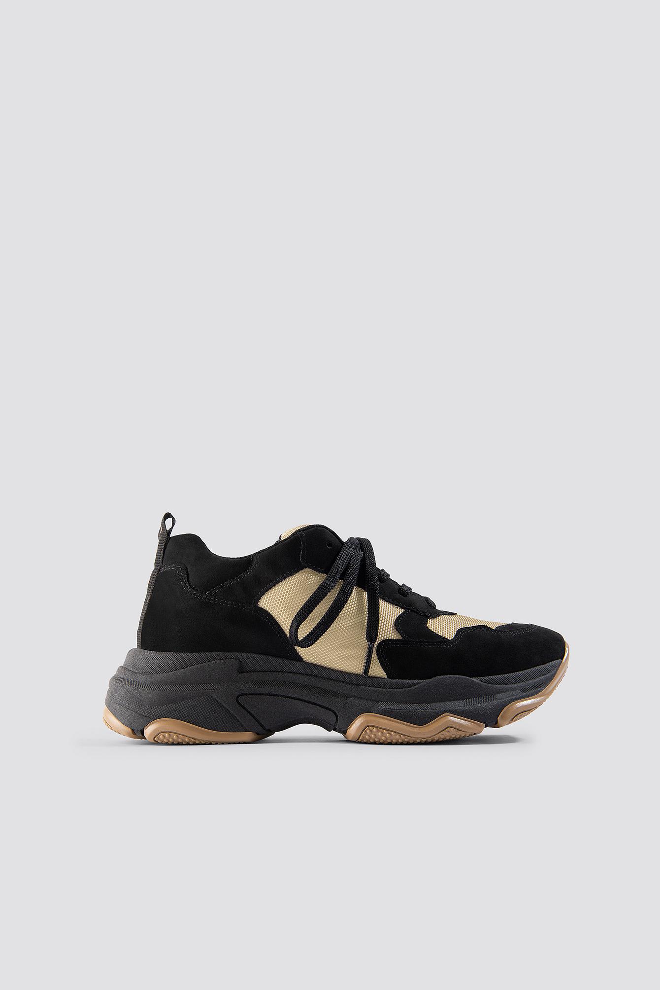 na-kd shoes -  NA-KD Chunky Trainers - Black,Beige