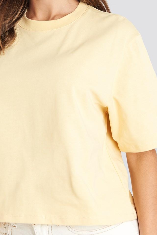 Oversized Short Tee Light Yellow