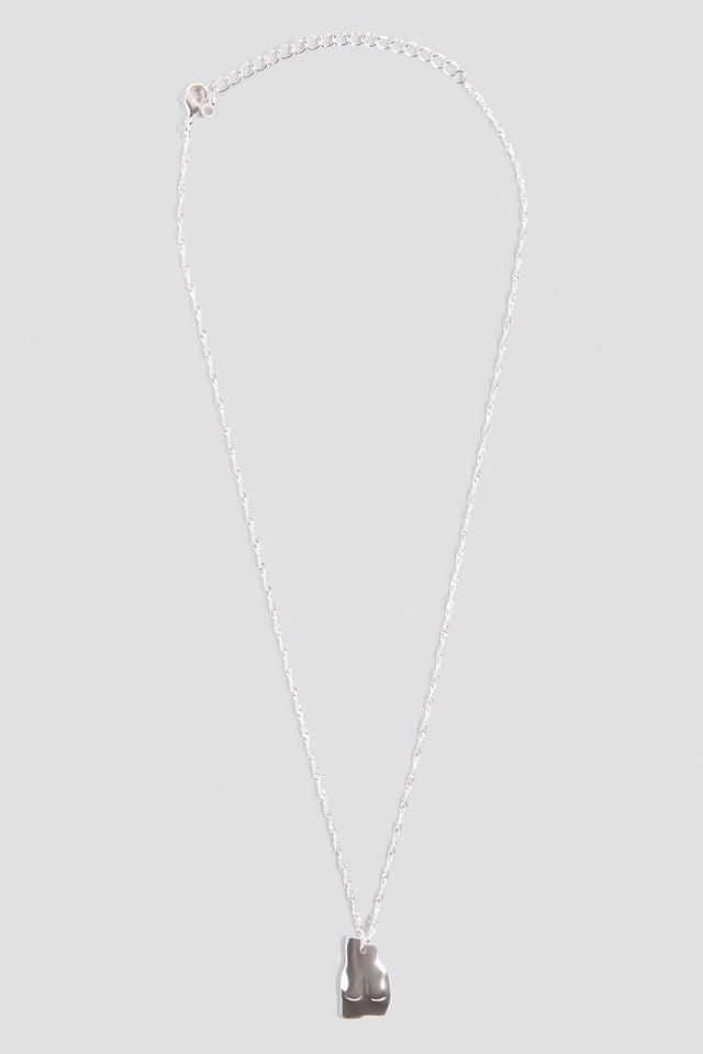 Naked Bottom Necklace Silver