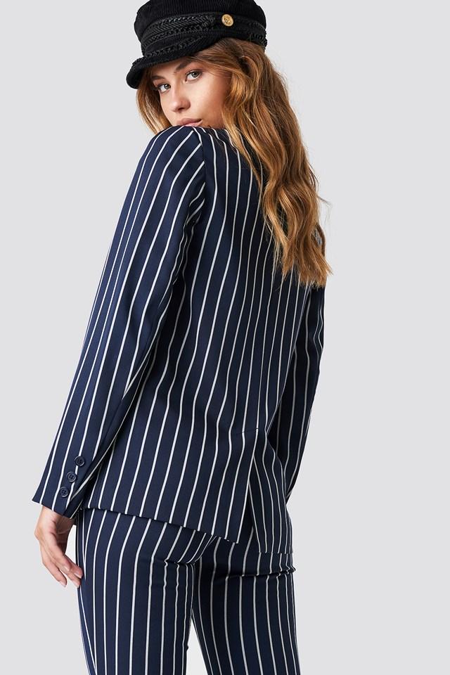 Navy Striped Blazer Navy