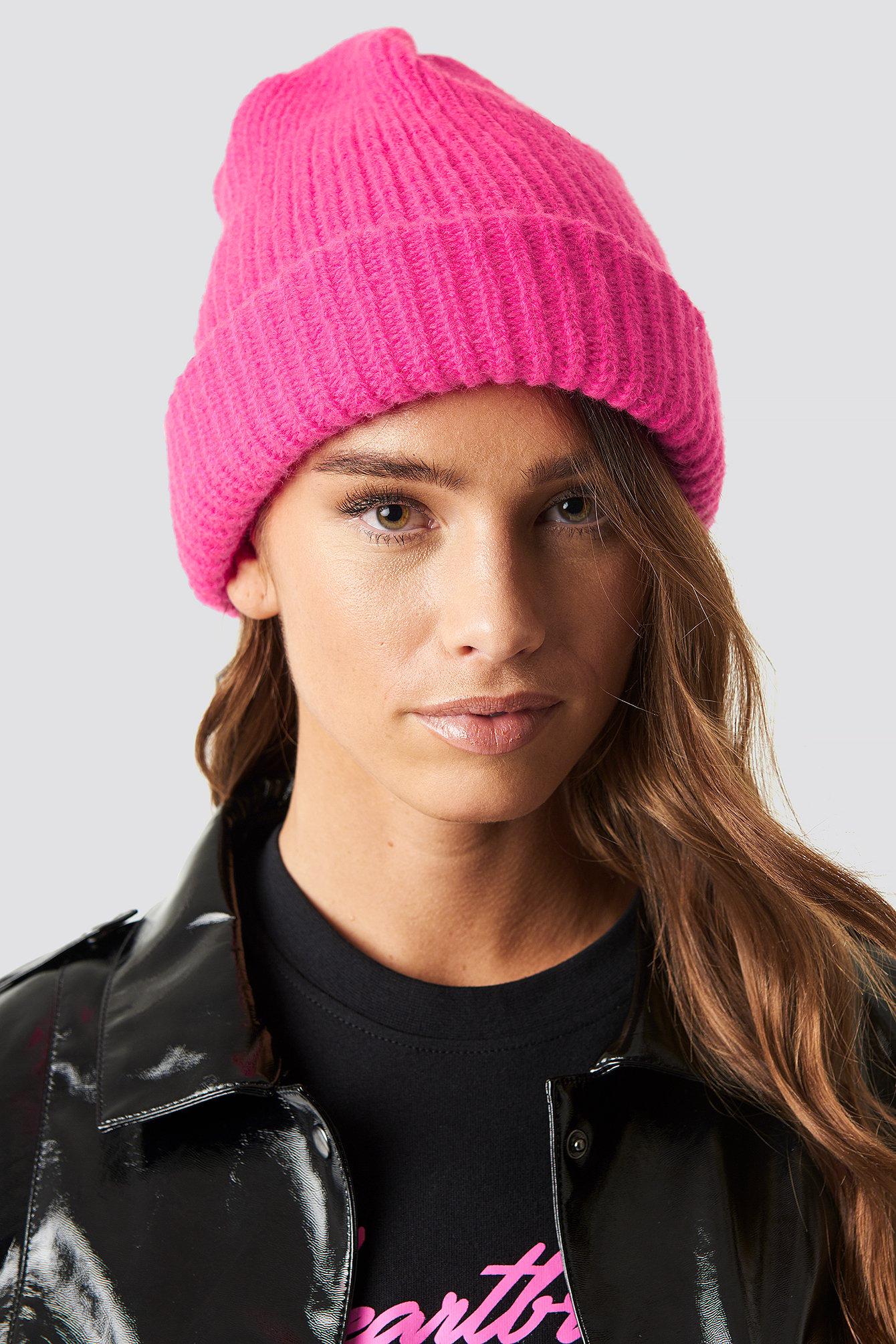 na-kd accessories -  Neon Beanie - Pink