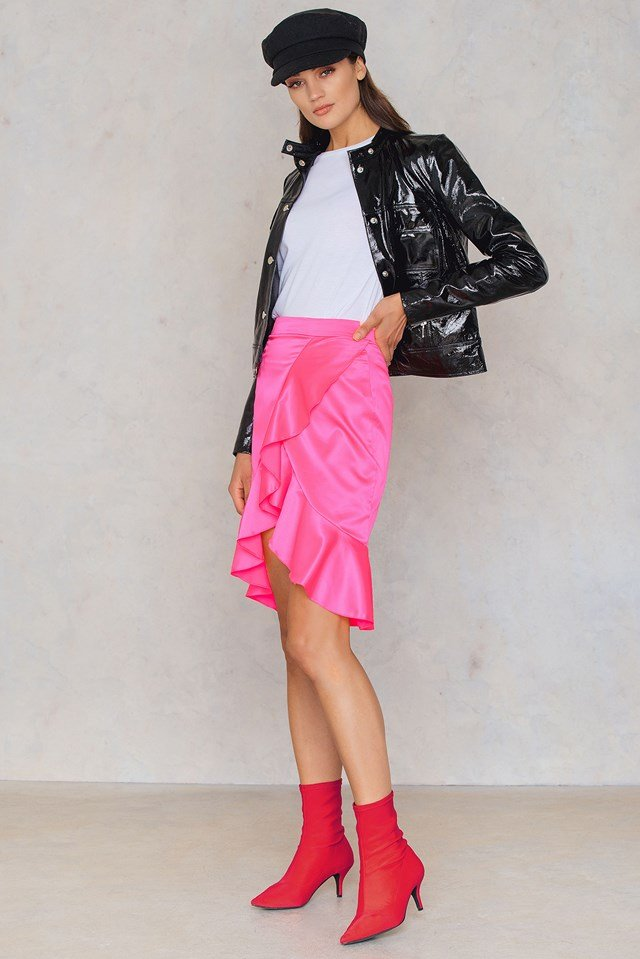 Neon Frill Skirt Pink
