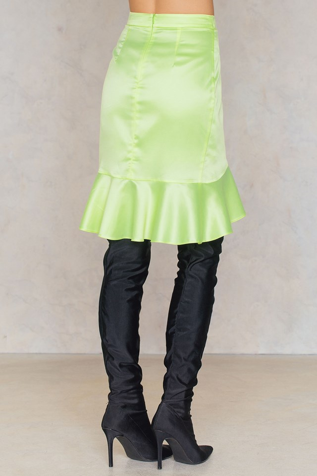 Neon Frill Skirt Yellow