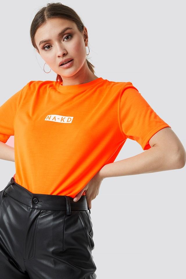 Neon Logo Tee Neon Orange