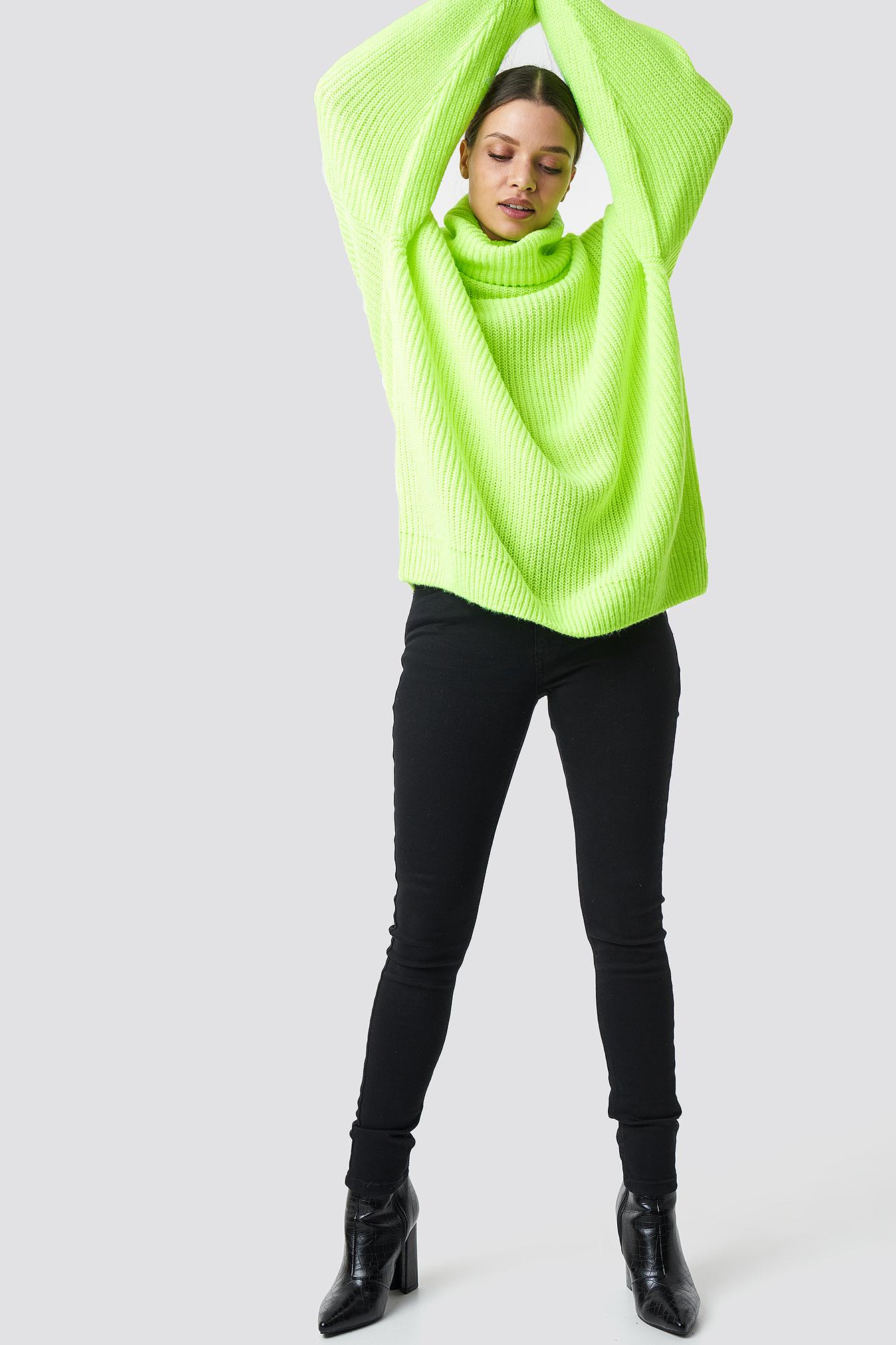 Neon Oversized Sweater NA-KD.COM
