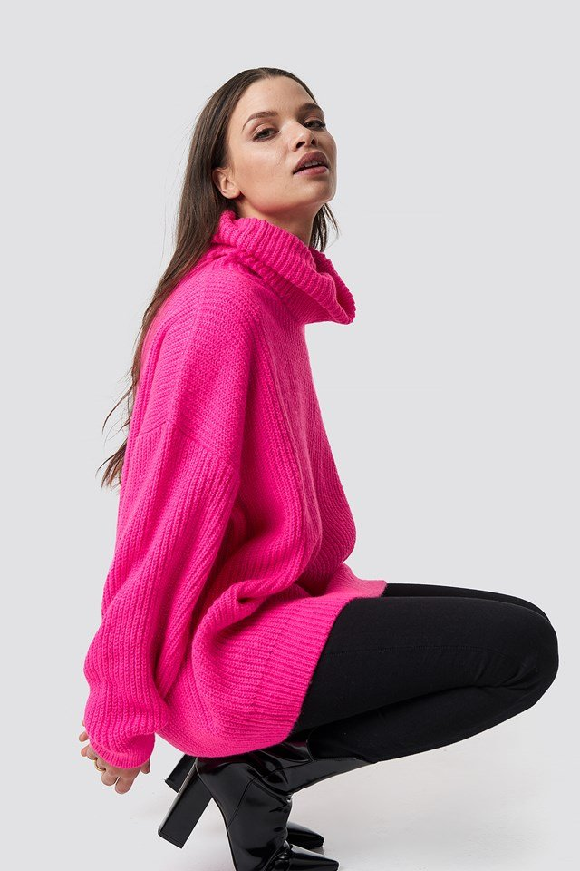 Neon Oversized Sweater NA-KD Trend