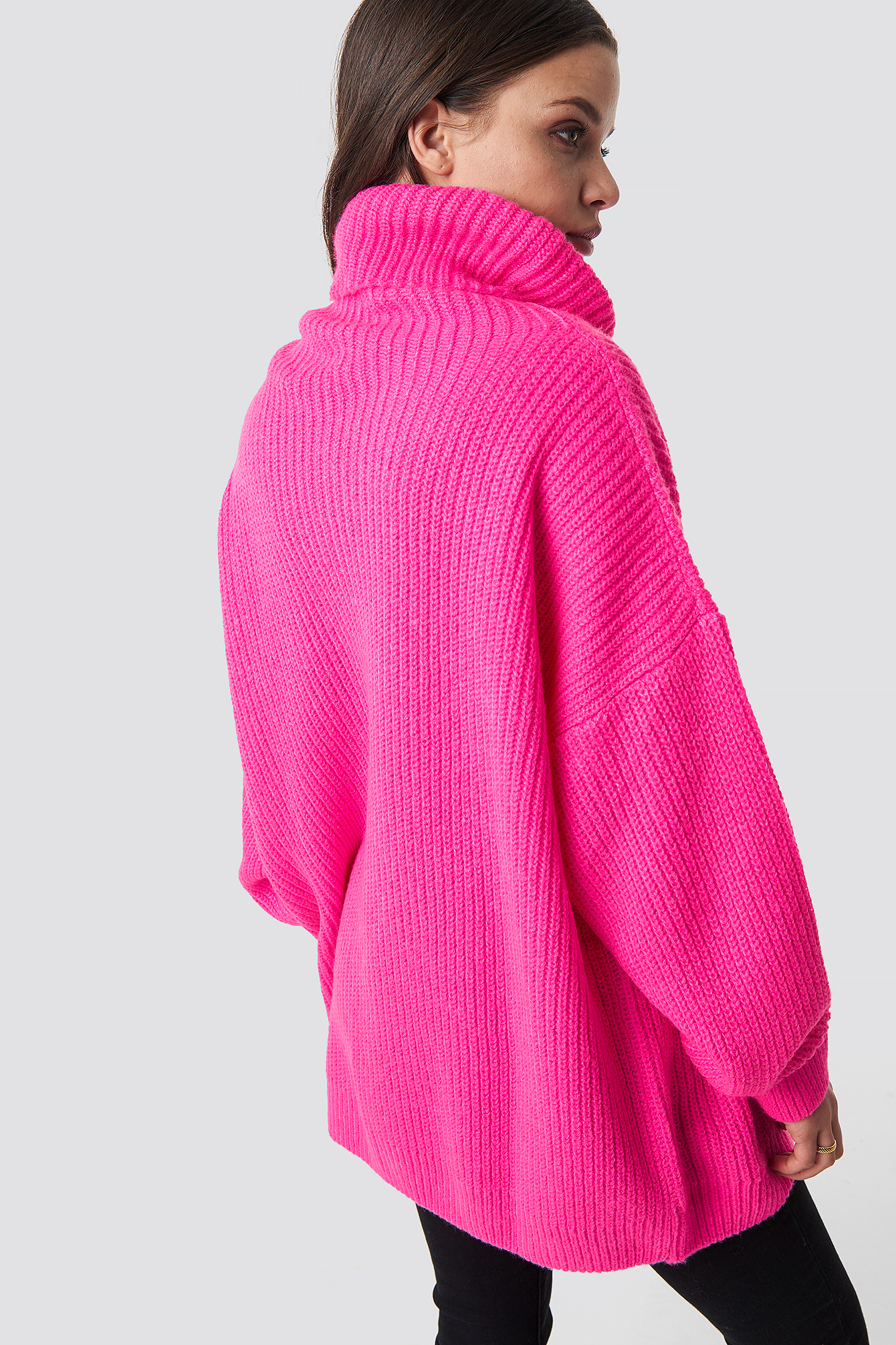 Neon Oversized Sweater Neon Pink Na Kdcom