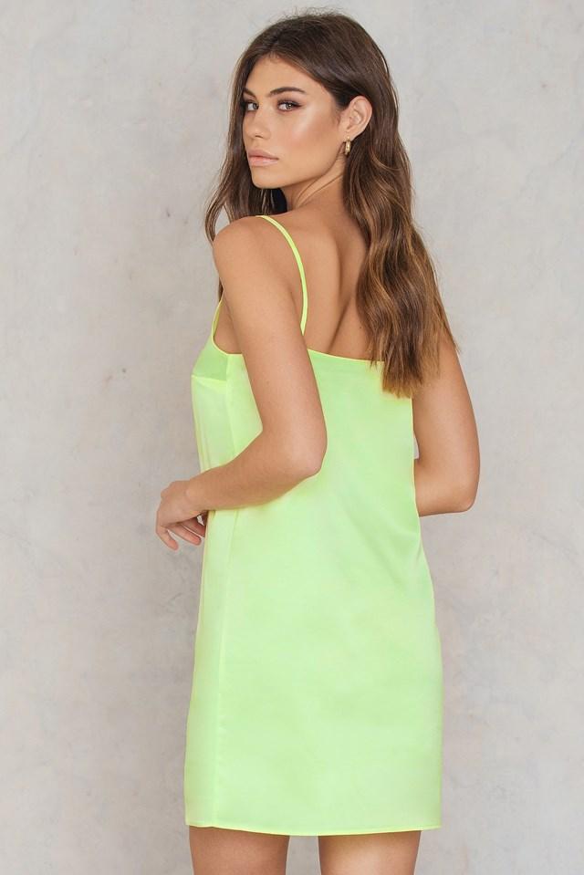 Neon Slip Dress Yellow