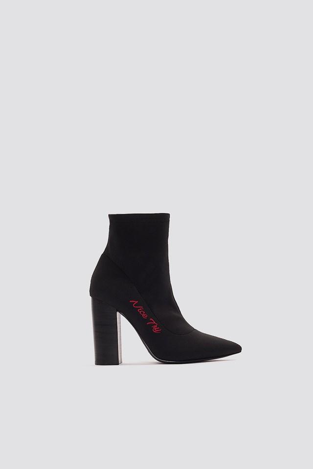 Nice Try Mid Heel Boots NA-KD.COM