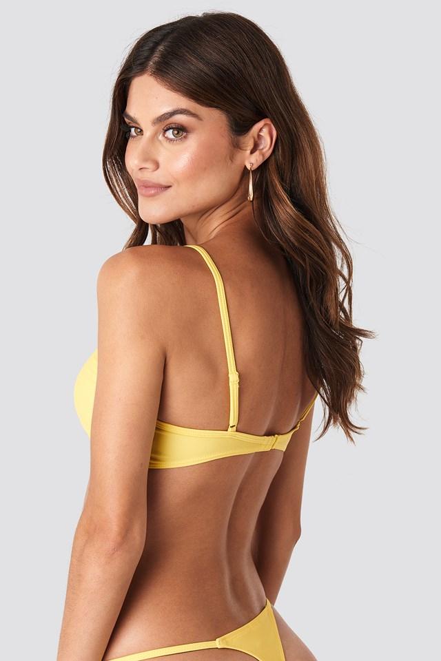 Node Detail Bikini Top Yellow