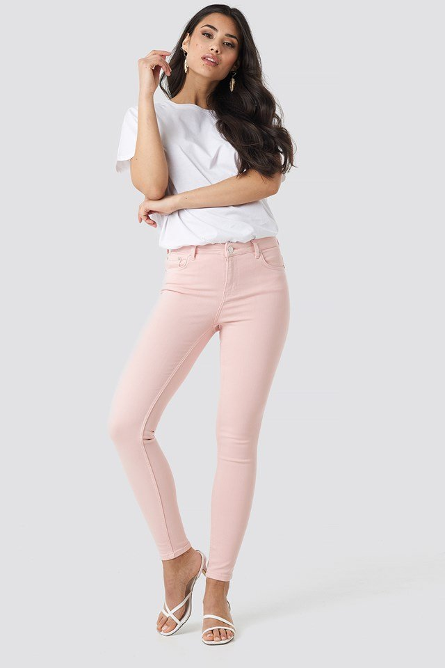 5 Pocket Jeans Pink