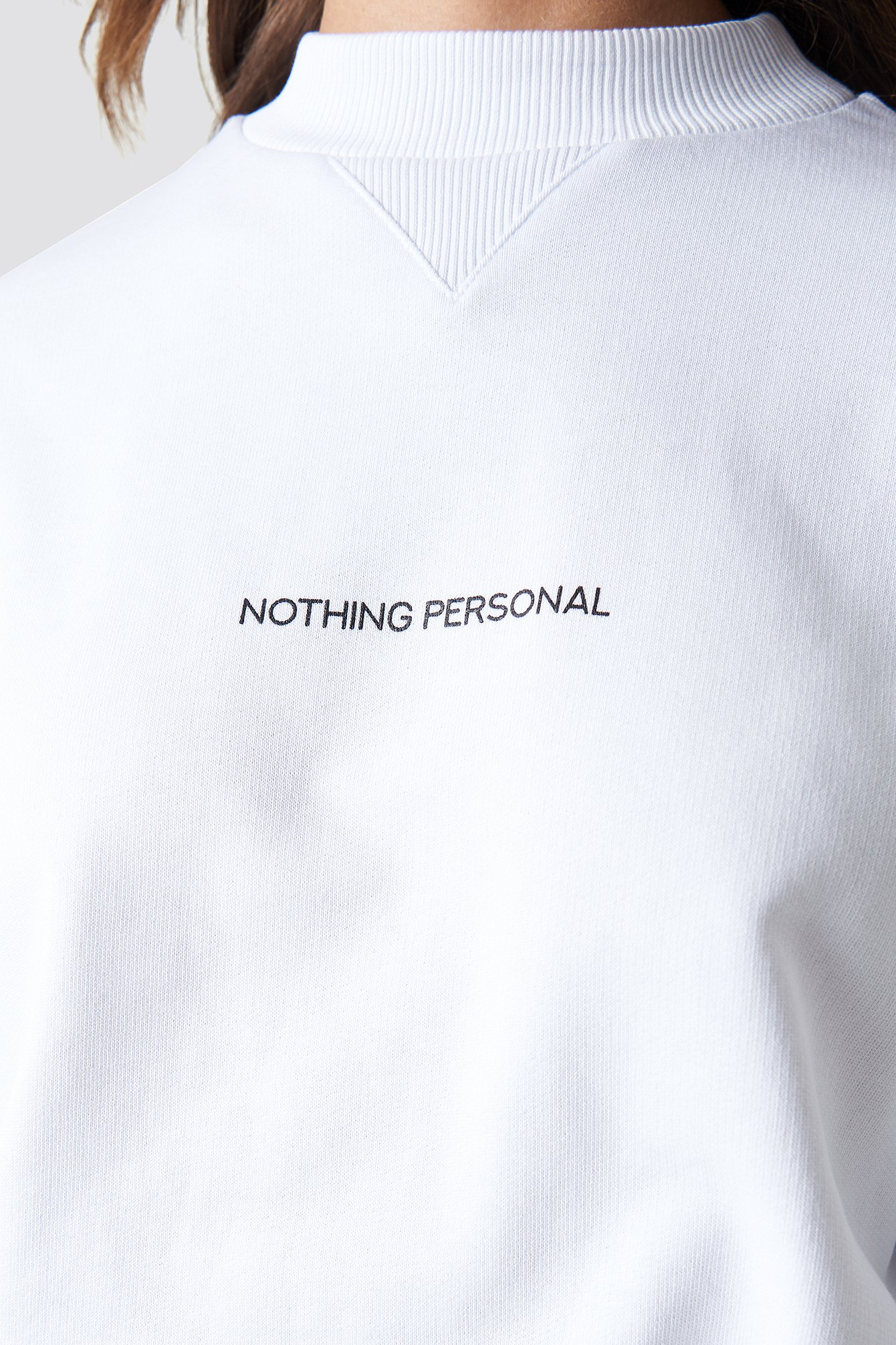 White Nothing Personal Sweater