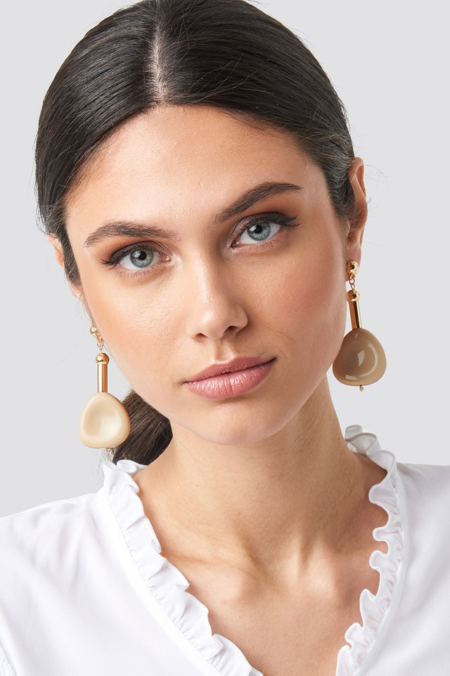 Nude Stone Drop Earrings NA-KD Accessories