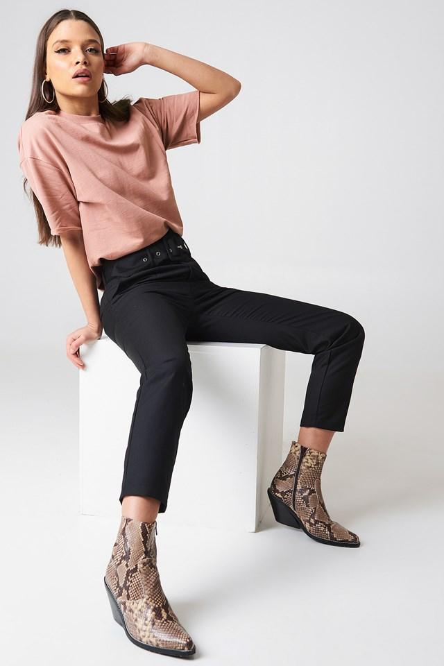 Oversized Short Sleeve Sweatshirt Dusty Dark Pink