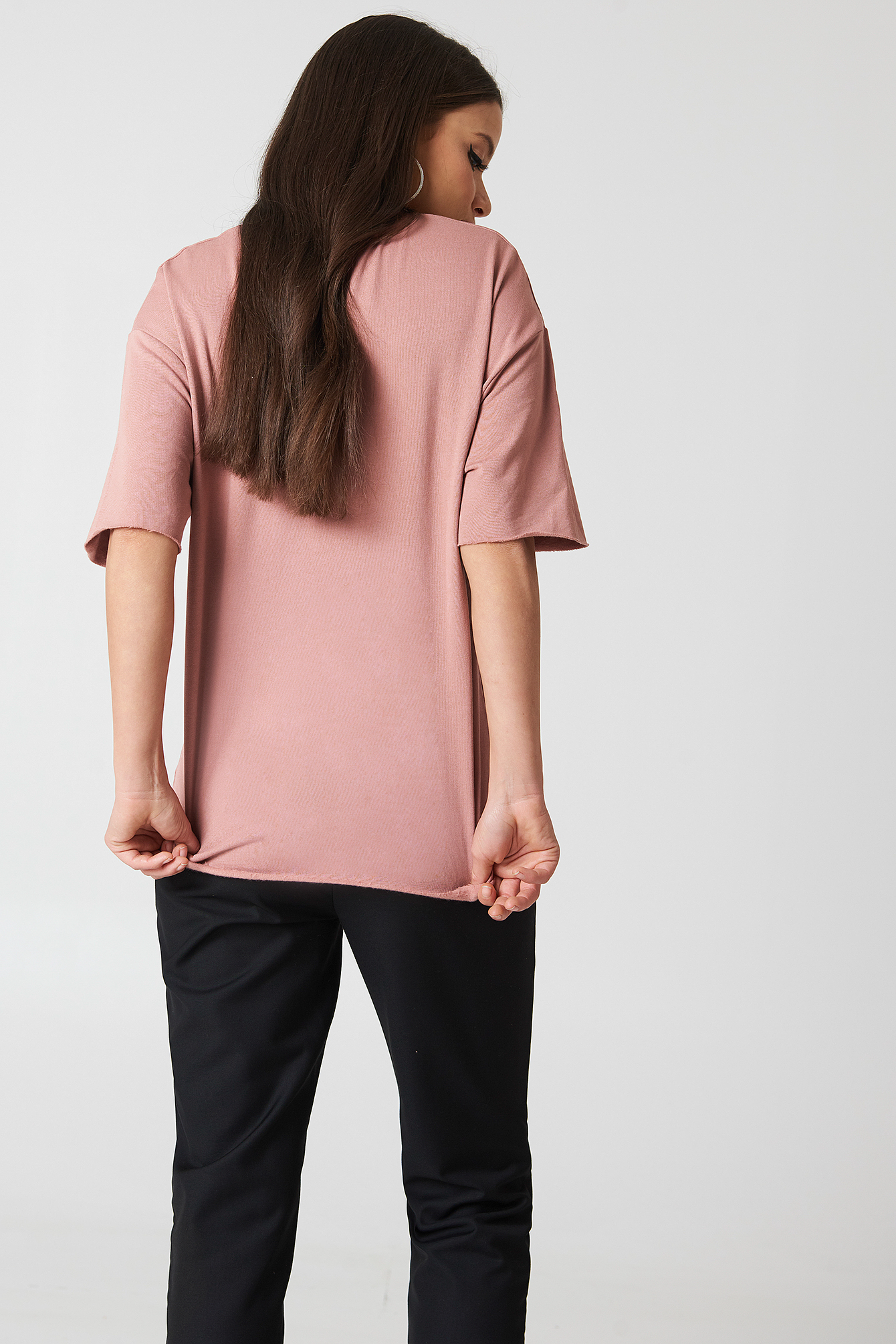 Oversized Short Sleeve Sweatshirt NA-KD.COM
