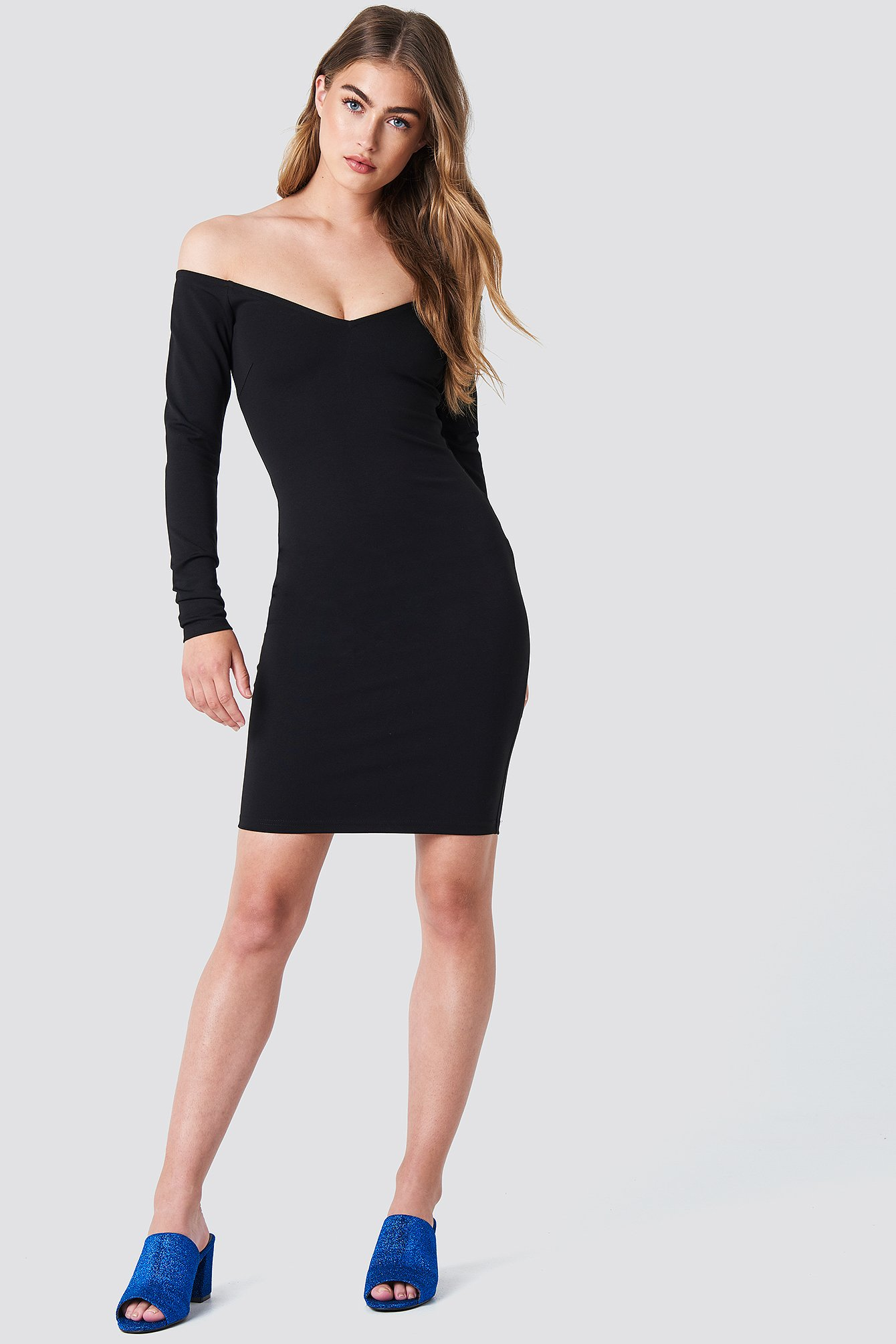 Off Shoulder Bodycon Dress NA-KD.COM