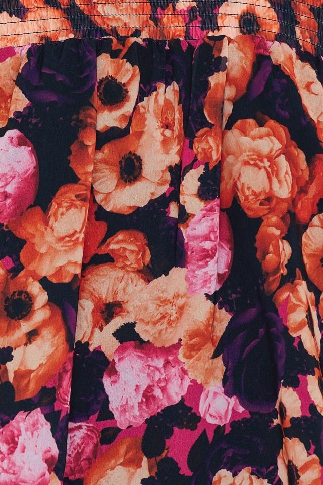 Off Shoulder Floral Print Top NA-KD.COM