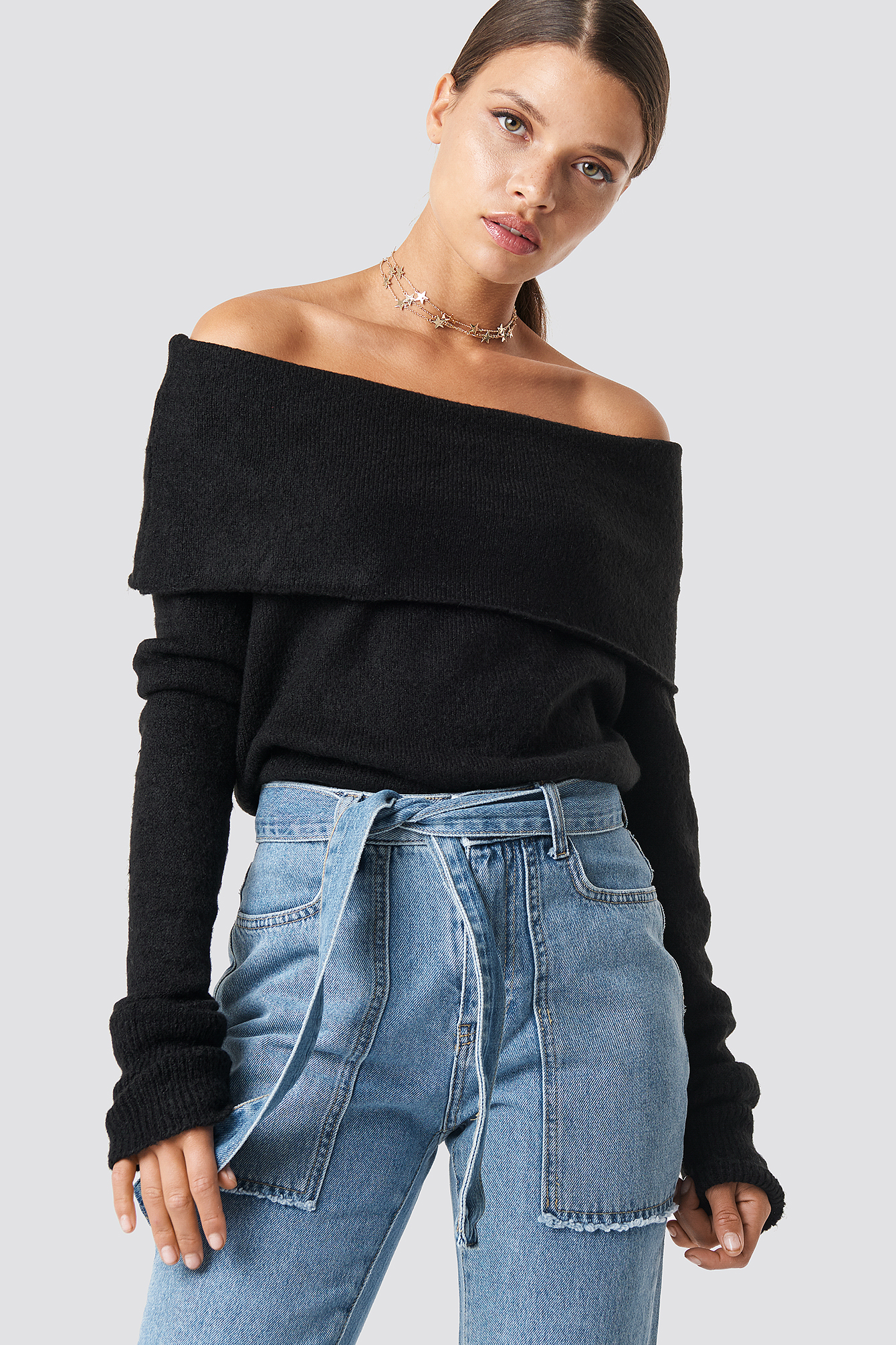 Offshoulder Folded Wide Sweater NA-KD.COM