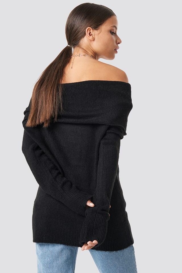 Offshoulder Folded Wide Sweater NA-KD.COM