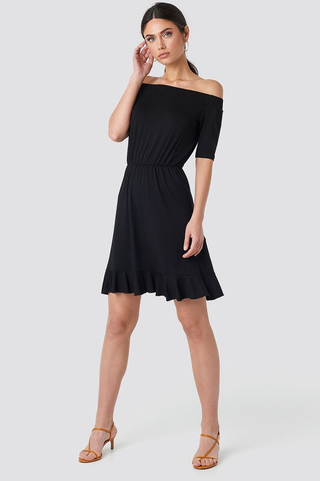 Off Shoulder Jersey Dress NA-KD.COM