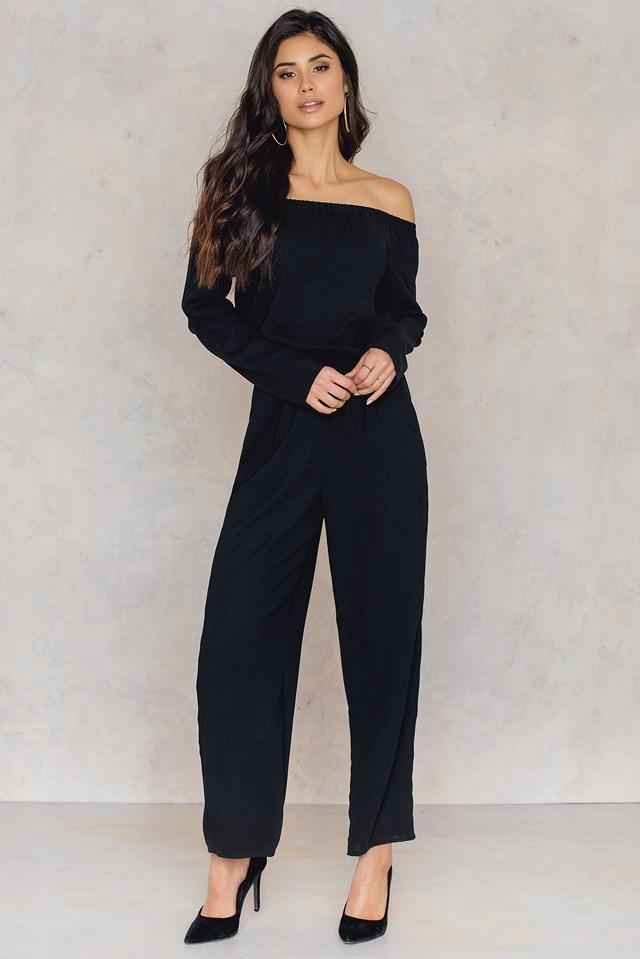 Off Shoulder Jumpsuit Black