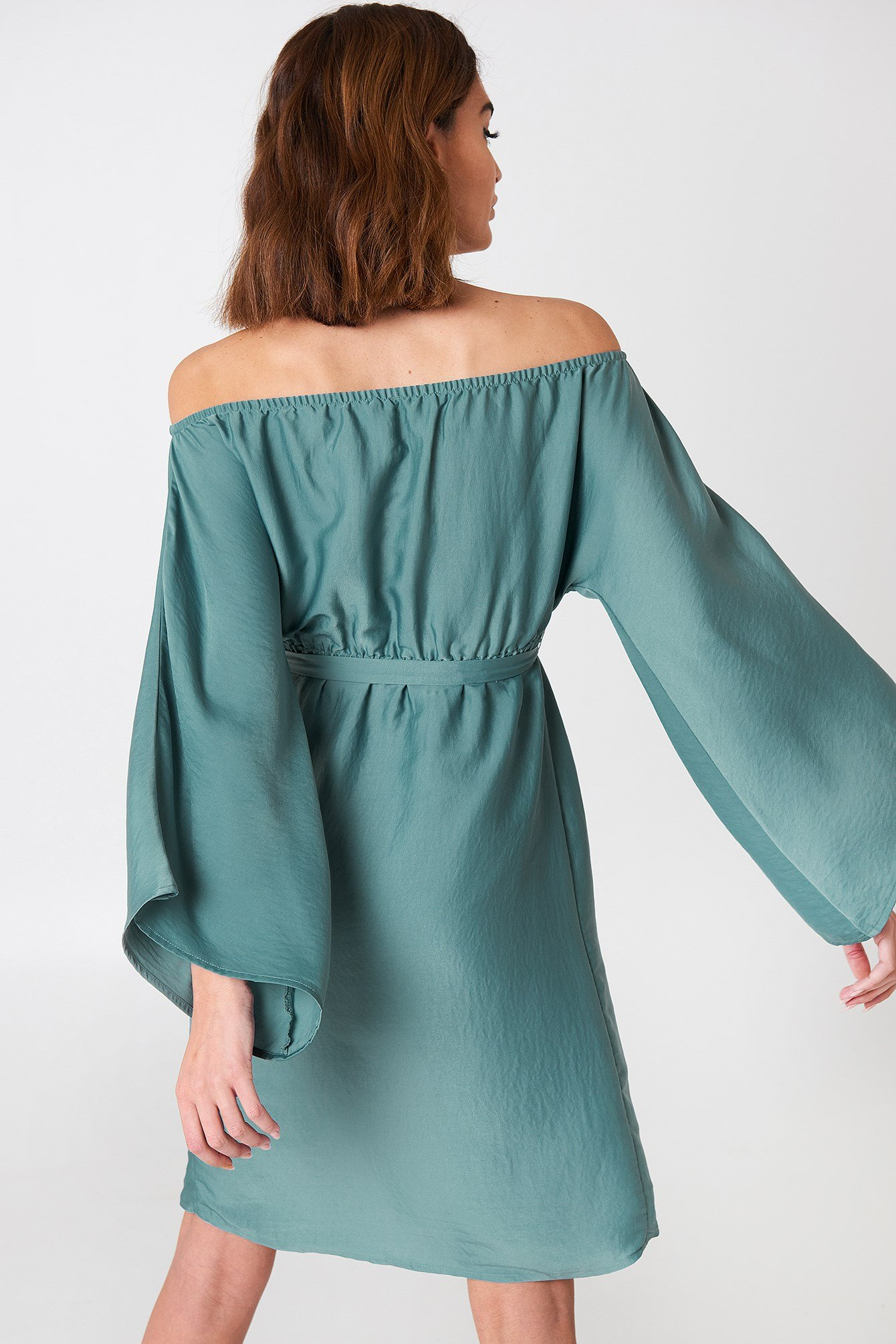 Off Shoulder Kimono Sleeve Dress NA-KD.COM